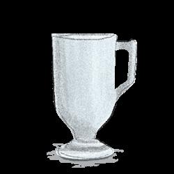 フェデラルのグラスはヴィンテージのフッテッドマグやオーロラカラーの先駆者のイラスト