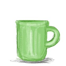 ファイヤーキングはジェダイカラーのマグカップで人気のビンテージの食器ですのイラスト