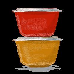 オールドパイレックスはアンティークの佇まい残すボウルなどが人気の耐熱ガラスブランドのイラスト