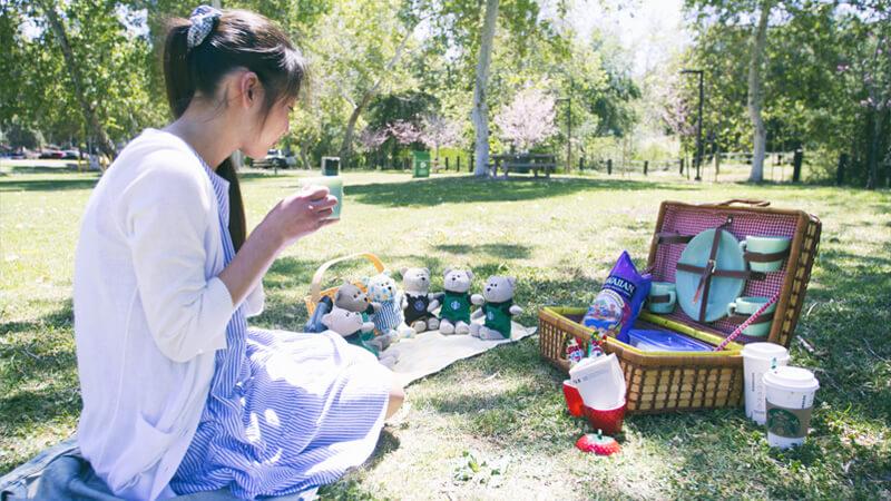 「ロスで見る桜」ファイヤーキングジェダイとビンテージバスケットでピクニックしてきました